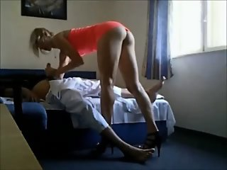 Old guy fucks hot escort on..